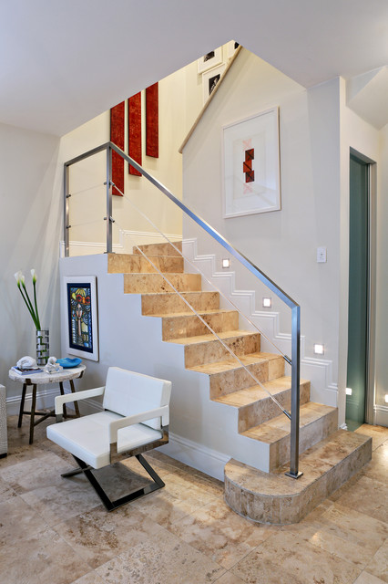 Coconut Grove Residence Contemporary Staircase Miami