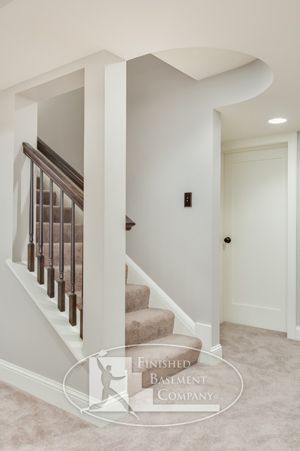 Colfax Basement Traditional Staircase Minneapolis