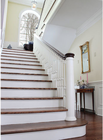 Colonial Revival Home Traditional Staircase