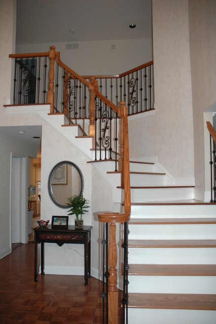 Complete staircase renovation! traditional-staircase