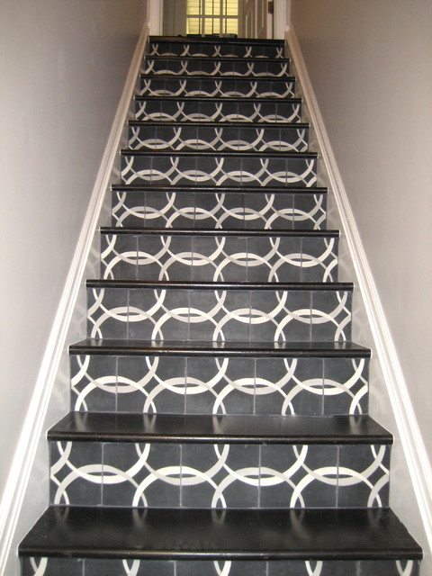 Wonderful Concrete Tiles From Ann Sacks Eclectic Staircase