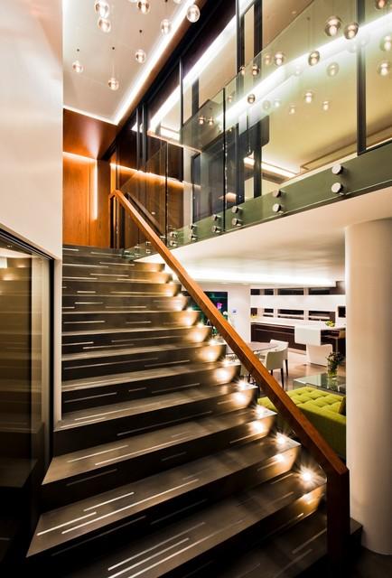 Condo Renovation 1 contemporary-staircase