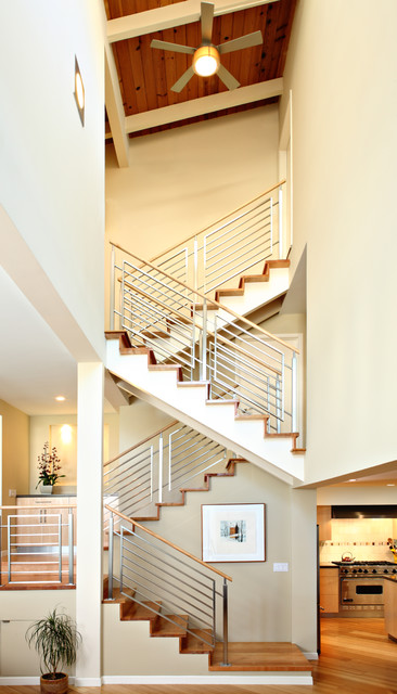 Condo Renovation Contemporary Staircase Los Angeles