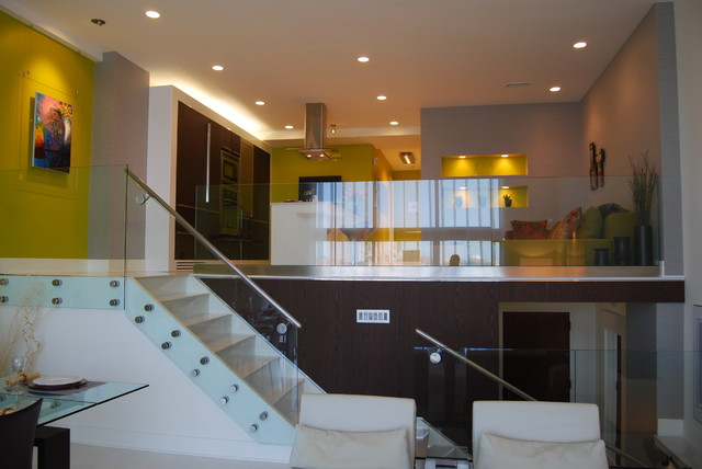 Condo unit interior renovation contemporary staircase