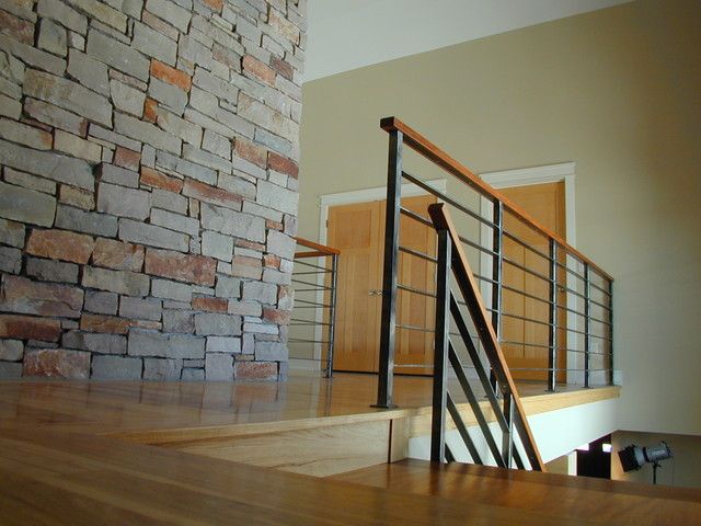 Contempoary Stair Railing Modern Staircase Milwaukee By Iron
