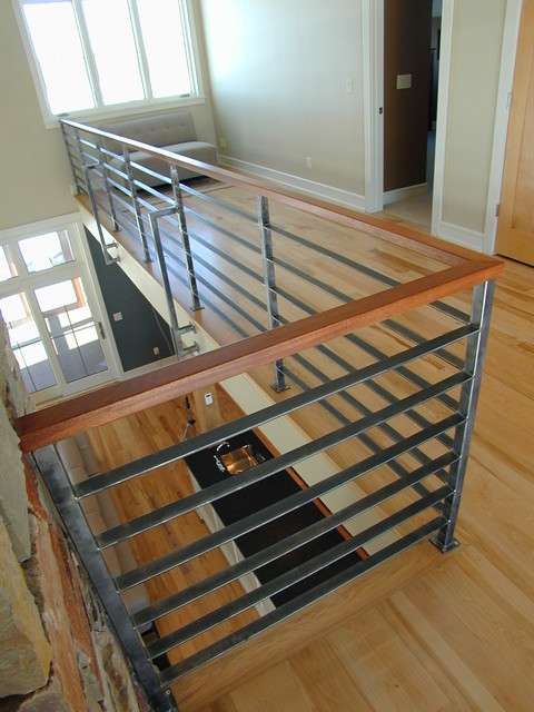 Contempoary Stair Railing Modern Staircase Milwaukee By Iron Creations Usa Ltd