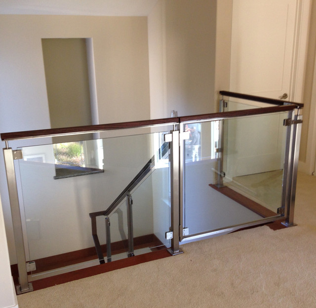 Contemporary Glass Child Gate. Stair Gates Safety Idea