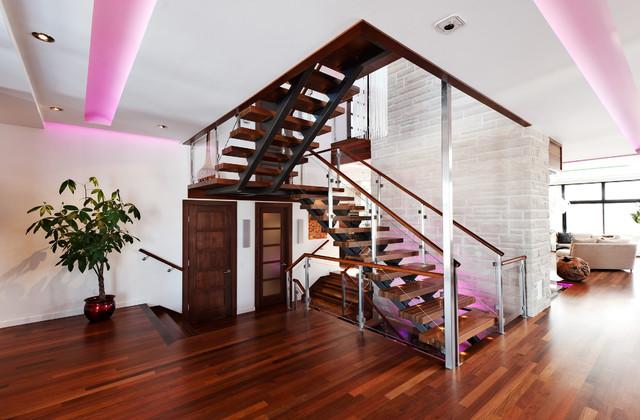 Contemporary Home - Boucherville contemporary-staircase