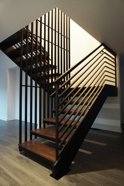 Contemporary Metal Staircase   Stevens Residence Contemporary Staircase