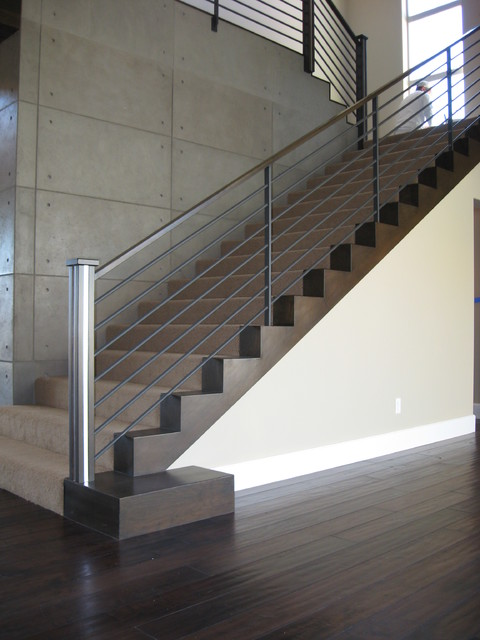 Contemporary Modern Staircases Contemporary Staircase Las Vegas By Jd Stairs Inc