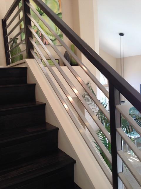 Contemporary Rail Systems - Contemporary - Staircase - San ...