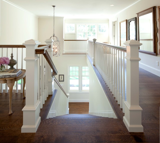 Contemporary shingle style contemporary staircase for Modern shingle style
