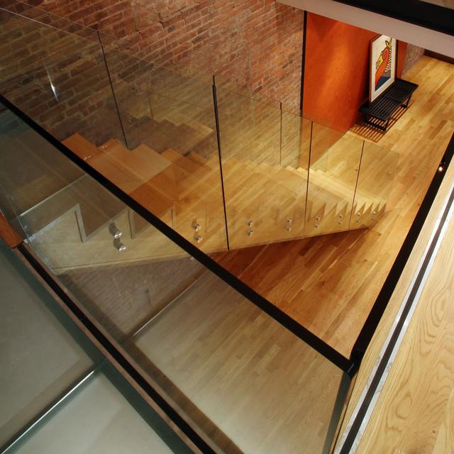Contemporary staircase contemporaneo scale new york for Arredare pianerottolo scale