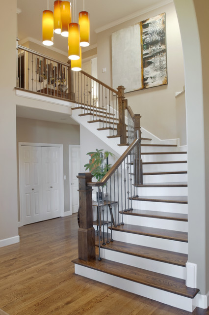 Allen Residence - Whole Home Design and Remodel contemporary-staircase