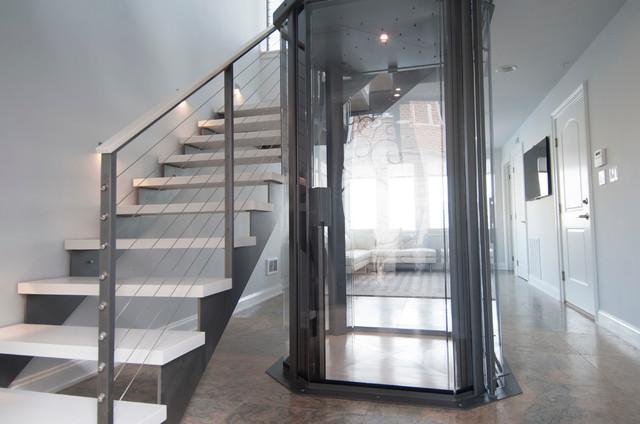 Wonderful Trendy Staircase Photo In Boston