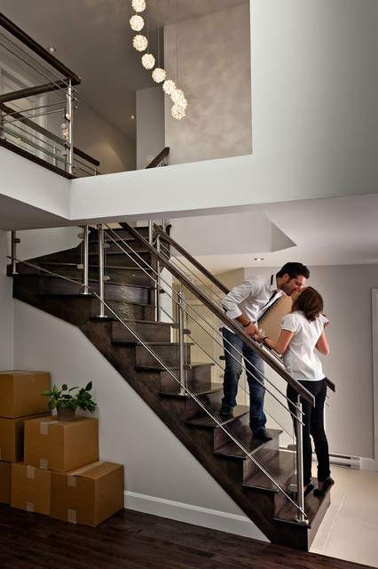Contemporary staircase with glass contemporary-staircase