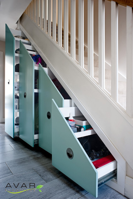 Contemporary Under Stairs Storage Solutions Contemporary