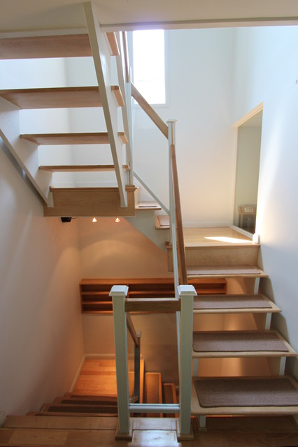 Contempory Stair Remodel in Columbus contemporary-staircase