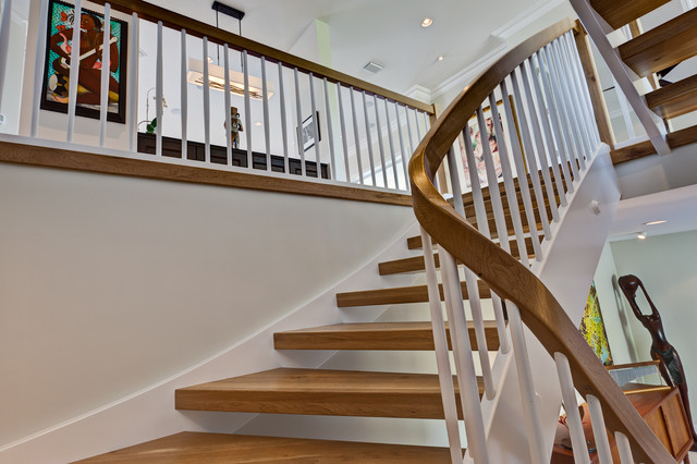 Continuous Stair Red And White Wormy Oak