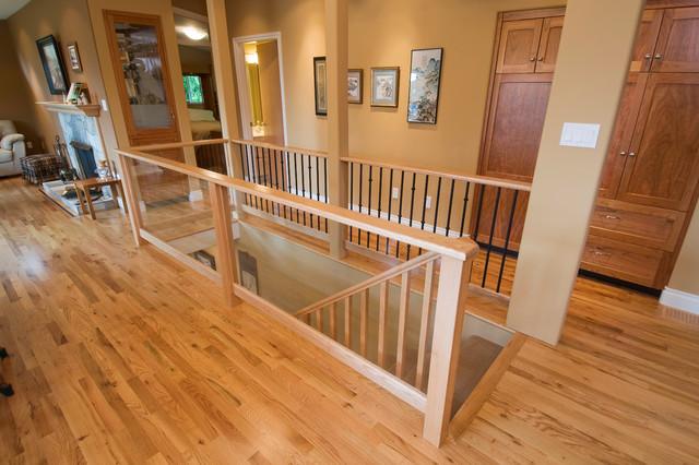 Cordova Bay Traditional contemporary-staircase