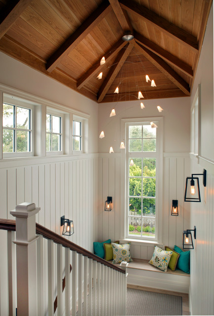 Staircase - beach style u-shaped staircase idea in Jacksonville
