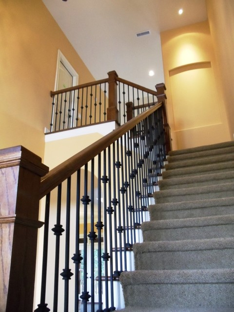 Country French Custom Design Traditional Staircase
