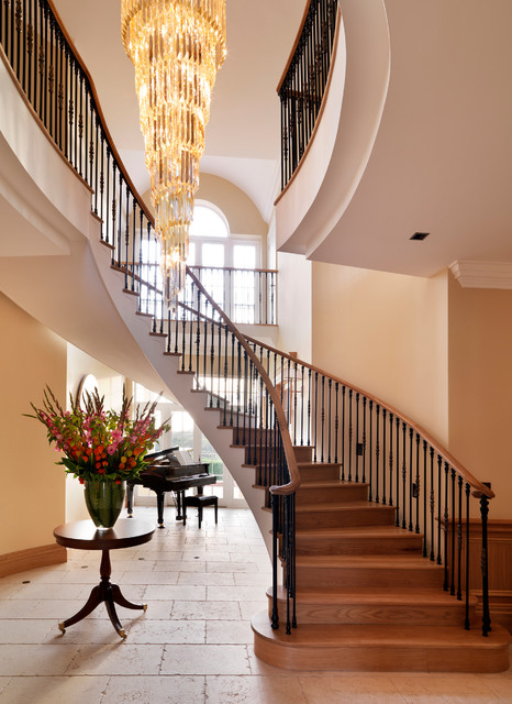Country House Entrance Hall Traditional Staircase