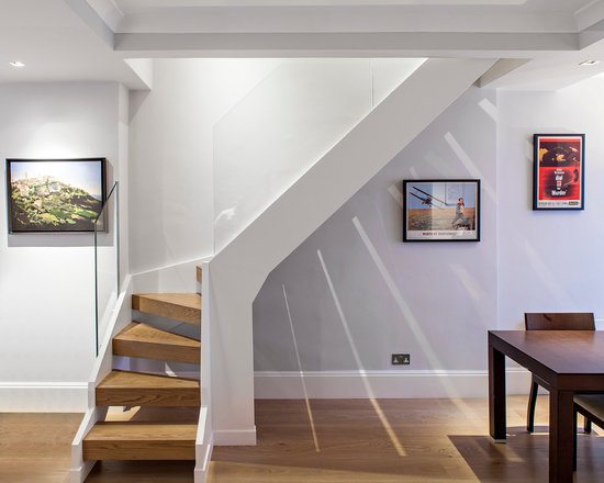 open stairway to basement home design ideas pictures