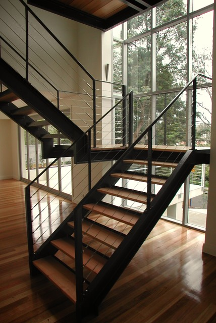 Cove House contemporary-staircase