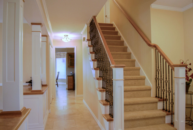 Coventry Entry & Staircase traditional-staircase