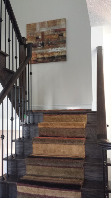 Staircase - rustic staircase idea in Toronto