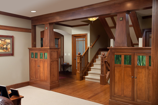 Craftsman Staircase By Melaragno Design Company Llc