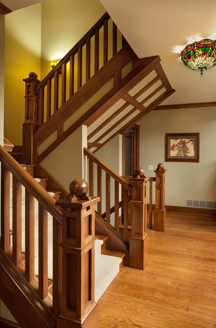 Craftsman Home Craftsman Staircase Columbus By