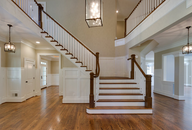 Craftsman Style Home Traditional Staircase