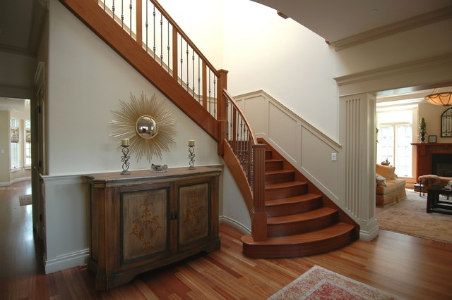 Craftsman Style in Burlingame Stair craftsman-staircase