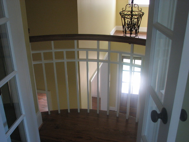 craftsman style staircase traditional-staircase