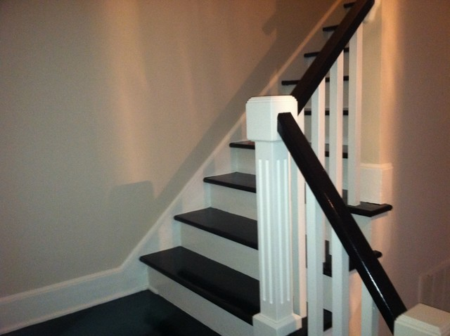 Creative Idea Painting Stair Treds Traditional Staircase