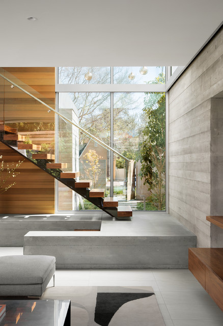Crescent drive residence contemporary staircase los - Limposante residence contemporaine de ehrlich architects ...