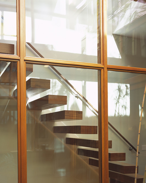 Cube House modern-staircase