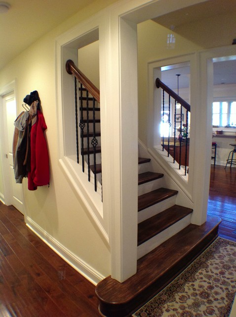Cumming Basement traditional staircase  Traditional Staircase Atlanta by The