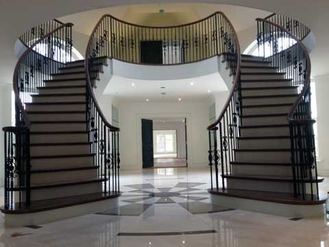 Curved Bespoke Staircases traditional-staircase