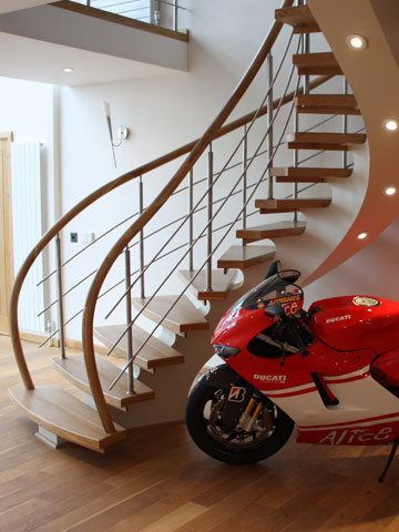 Curved Bespoke Staircases contemporary-staircase