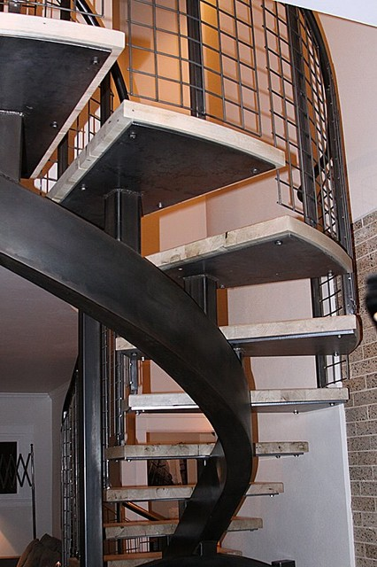 Curved Center Stringer Stairs Modern Staircase