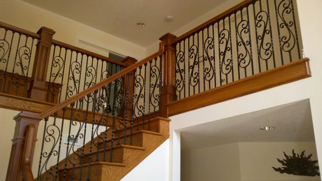 Curved Iron Scroll Balusters