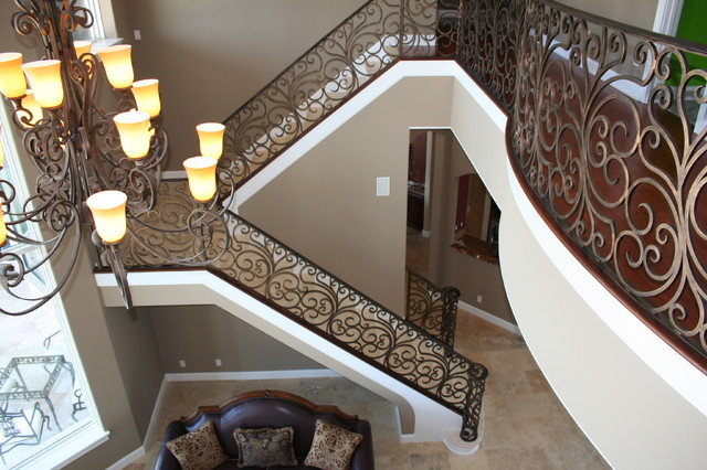 Curved Stair Project. Bubbers Residence. Merritt Island Fl mediterranean-staircase