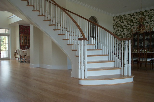 Curved Stair Project. Garner Residence. Melbourne Fl traditional-staircase