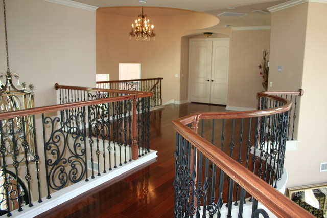 Curved Stair Project Quadri Residence Melbourne Fl Mediterranean Staircase Orlando By