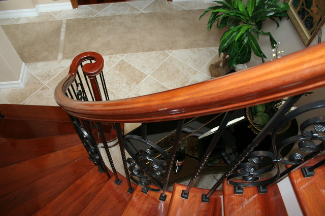 Curved Stair Project Stoess Residence Traditional