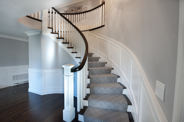 Curved Staircase Amp Wood Paneling
