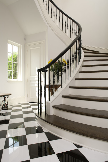 Beau Curved Staircase   Mediterranean   Staircase   Minneapolis ...